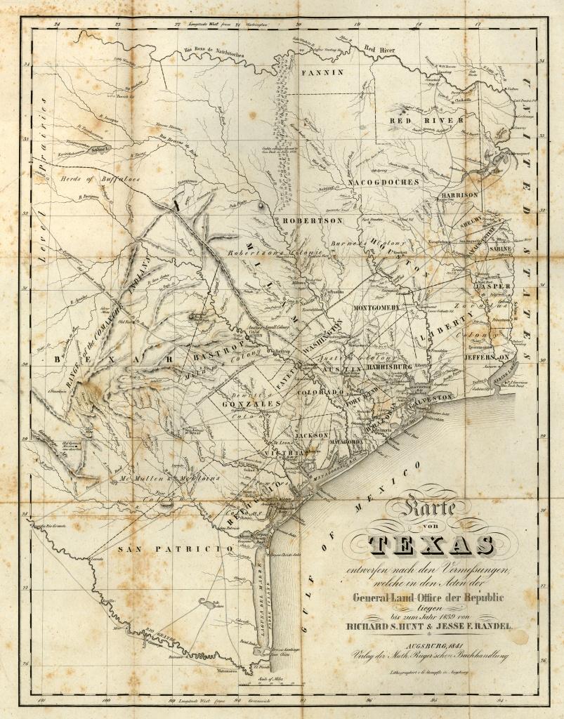 Texas Historical Maps - Perry-Castañeda Map Collection - Ut Library - Texas Map 1800