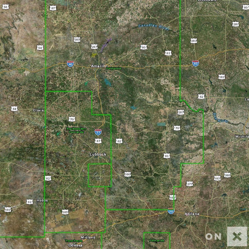 Texas Hunt Zone Panhandle Mule Deer - Texas Deer Hunting Zones Map