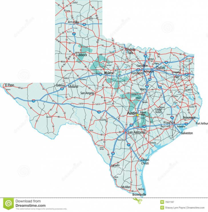 Free Texas Highway Map