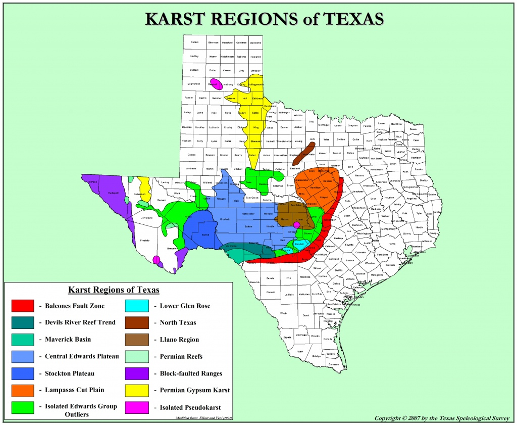 Texas Karst | Texas Speleological Survey | Tss | Cave | Records - Caves In Texas Map