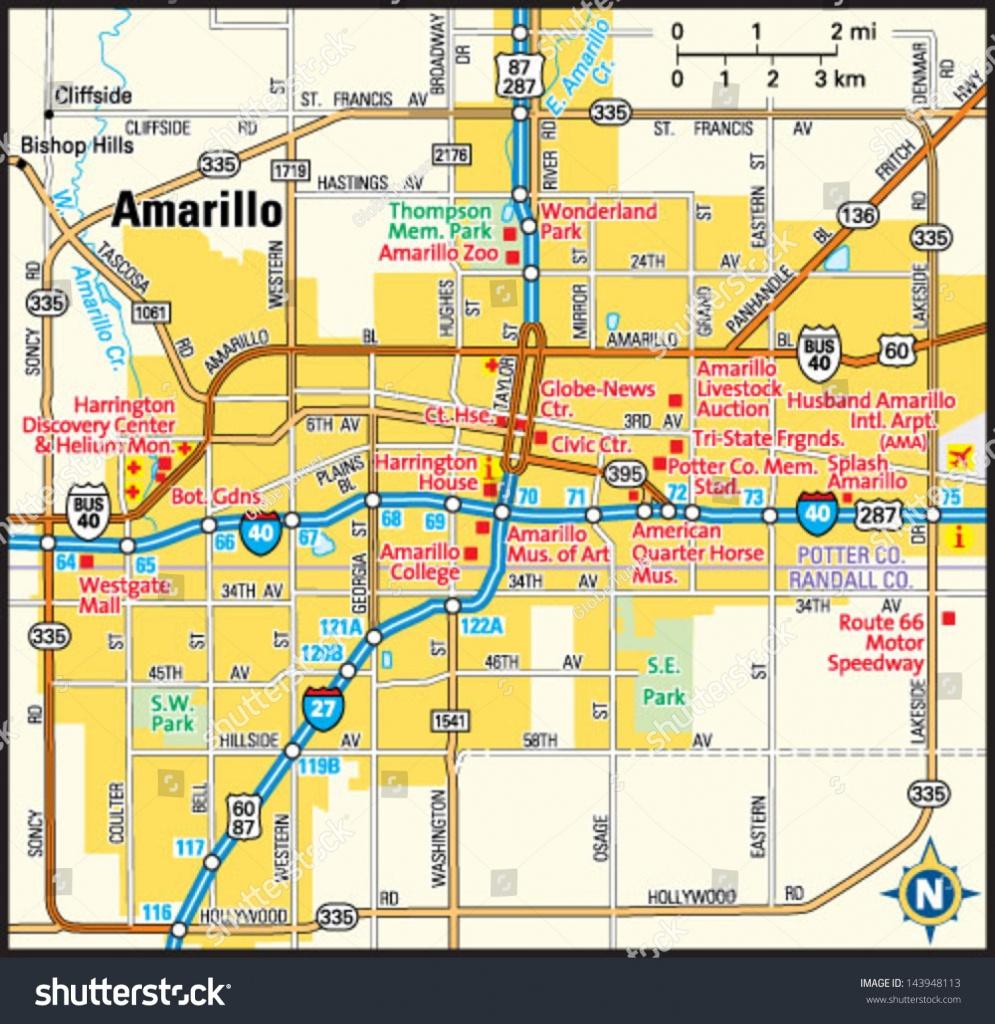 Texas Map Amarillo | Business Ideas 2013 - Printable Map Of Amarillo Tx