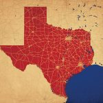 Texas Map Art   City Prints   Texas Map Art
