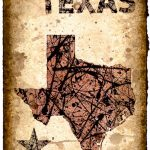 Texas Map Art Print 11 X 16.5 Stencil Prints Of | Etsy   Texas Map Art