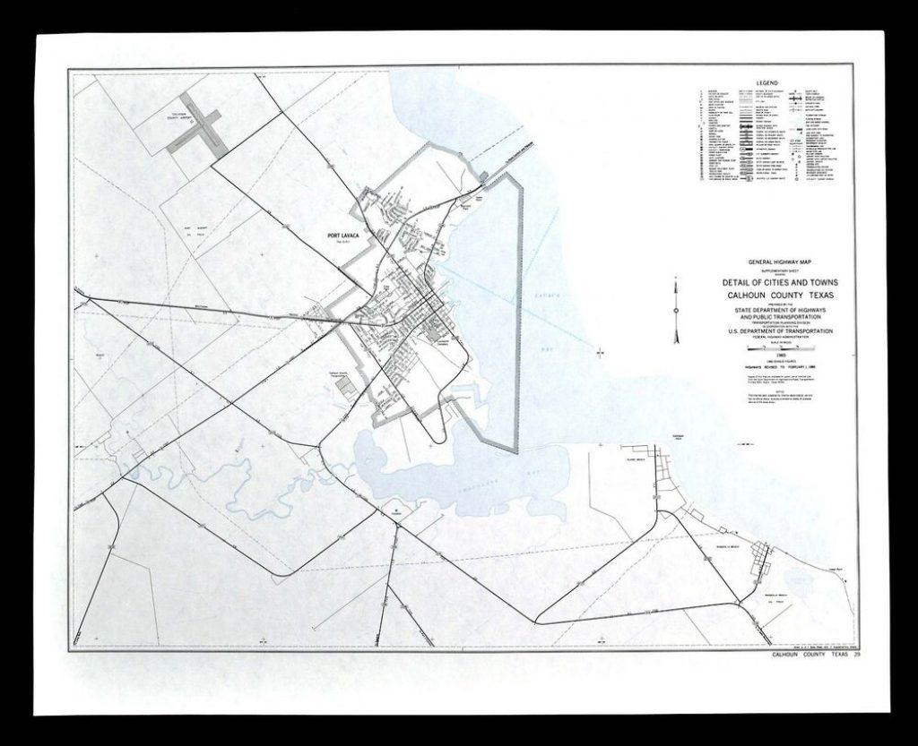 Texas Map - Calhoun County - Port Lavaca Bay Alamo ...