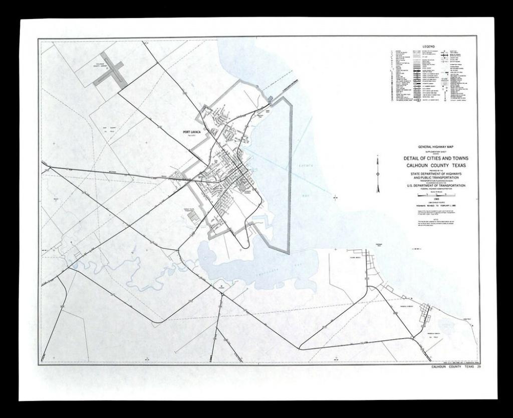 Texas Map - Calhoun County - Port Lavaca Bay Alamo Magnolia Beach - Magnolia Texas Map
