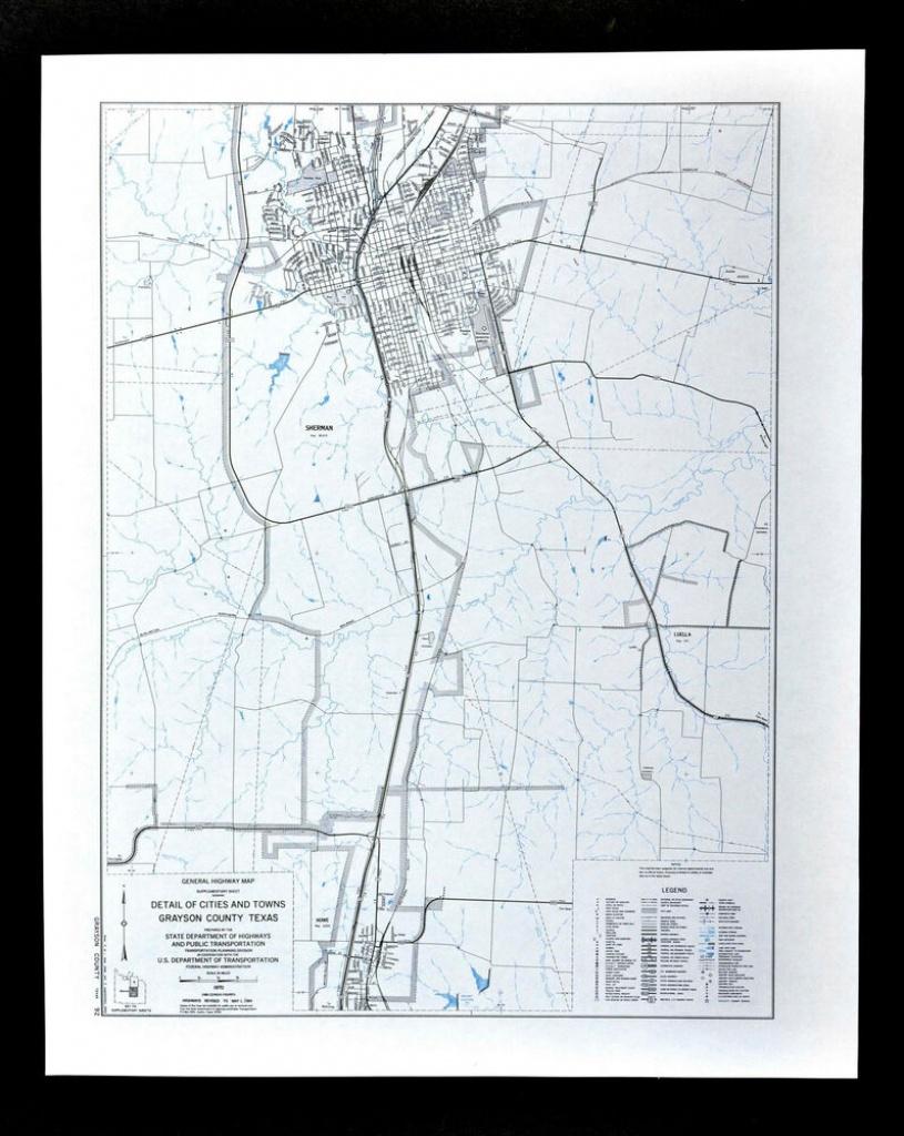 Texas Map - Grayson County - Sherman Howe Luella Parks Airport - Sherman Texas Map