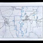 Texas Map   Liberty County   Dayton Kenefick Ames Trinity River | Ebay   Dayton Texas Map