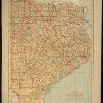 Texas Map Of Texas Wall Decor Art Road Map Large East Eastern – Texas Map Wall Art