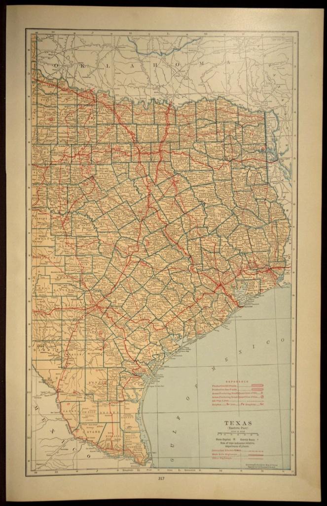 Texas Map Of Texas Wall Decor Art Road Map Large East Eastern - Texas Map Wall Art