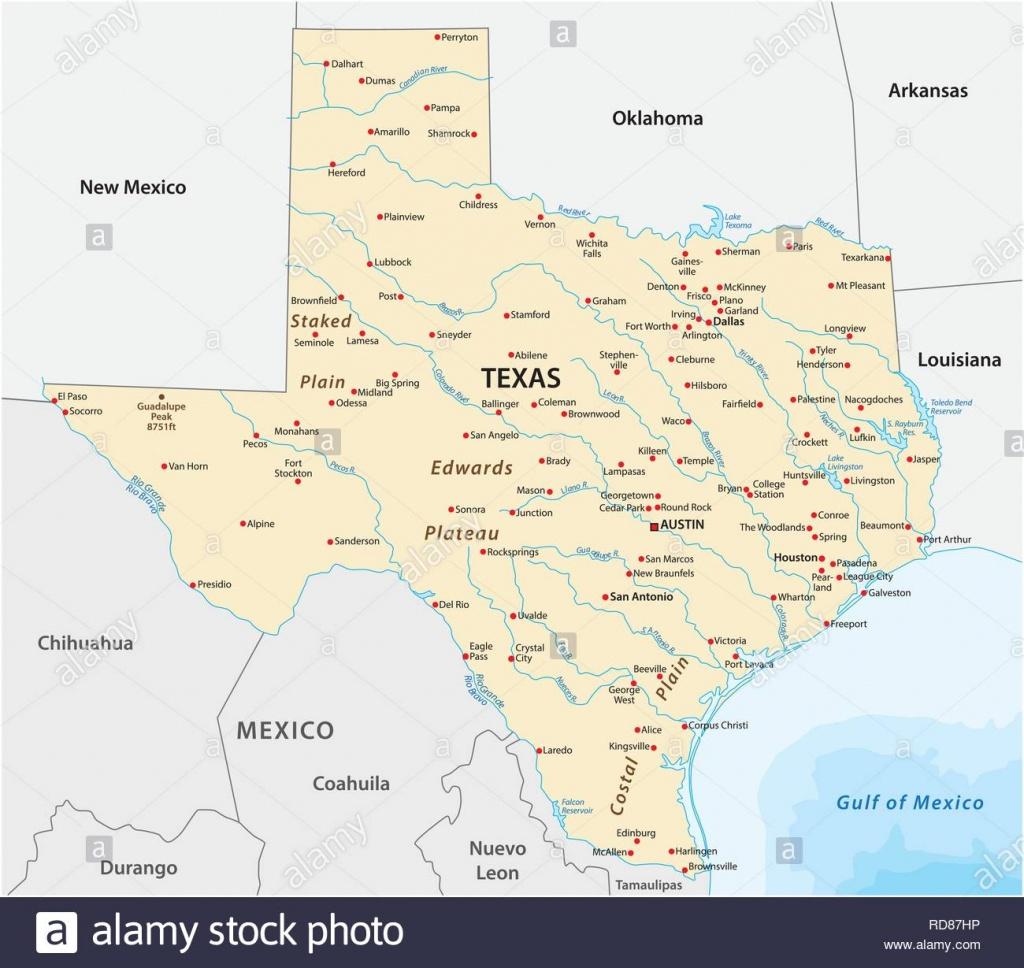 Texas Map Photos & Texas Map Images - Alamy - Texas Arkansas Map
