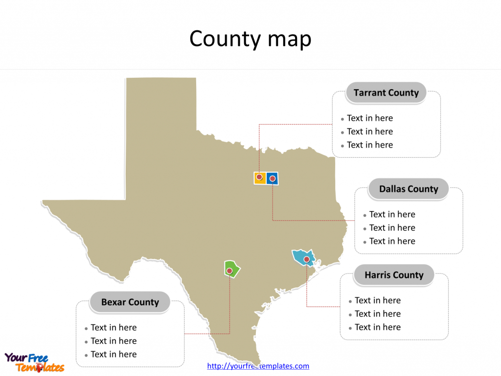 Texas Map Powerpoint Templates - Free Powerpoint Templates - Porter Texas Map