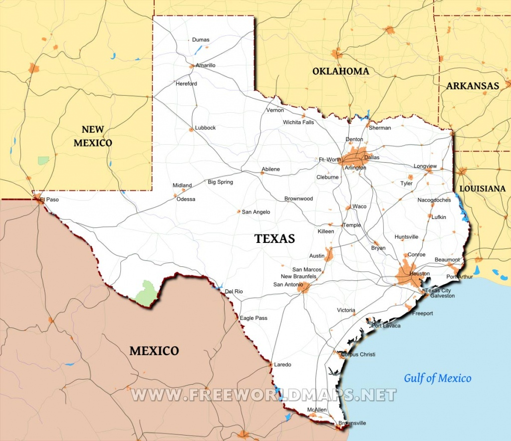 Texas Maps - Big Spring Texas Map