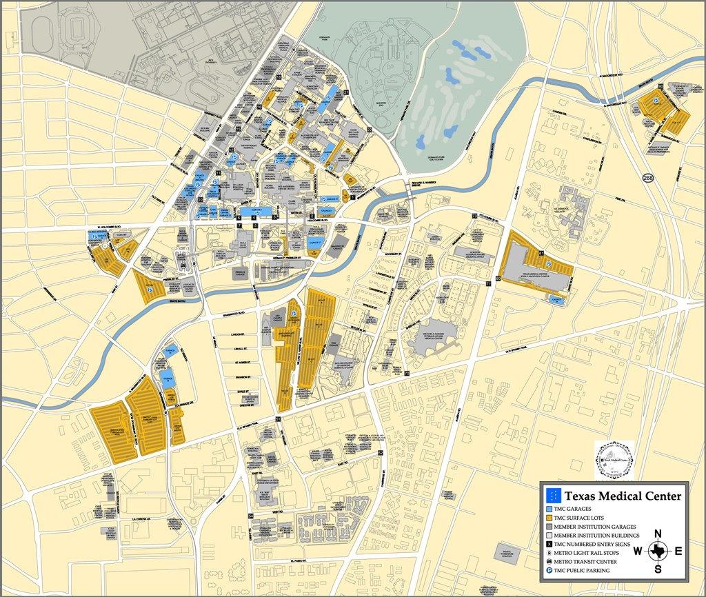 Texas Medical Center - Maplets - Texas Medical Center Map