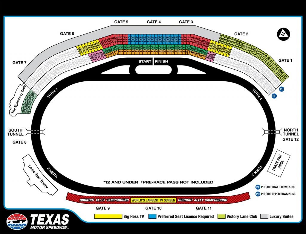 Texas Motor Speedway Map | Dehazelmuis - Texas Motor Speedway Map