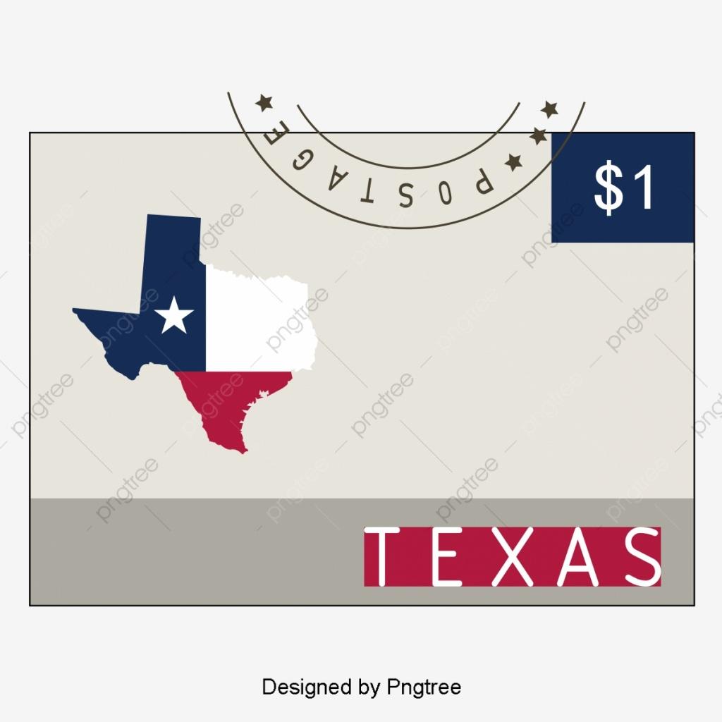 Texas New Map Enveloppe Creative Drapeau Png Et Vecteur Pour - Texas Tree Map