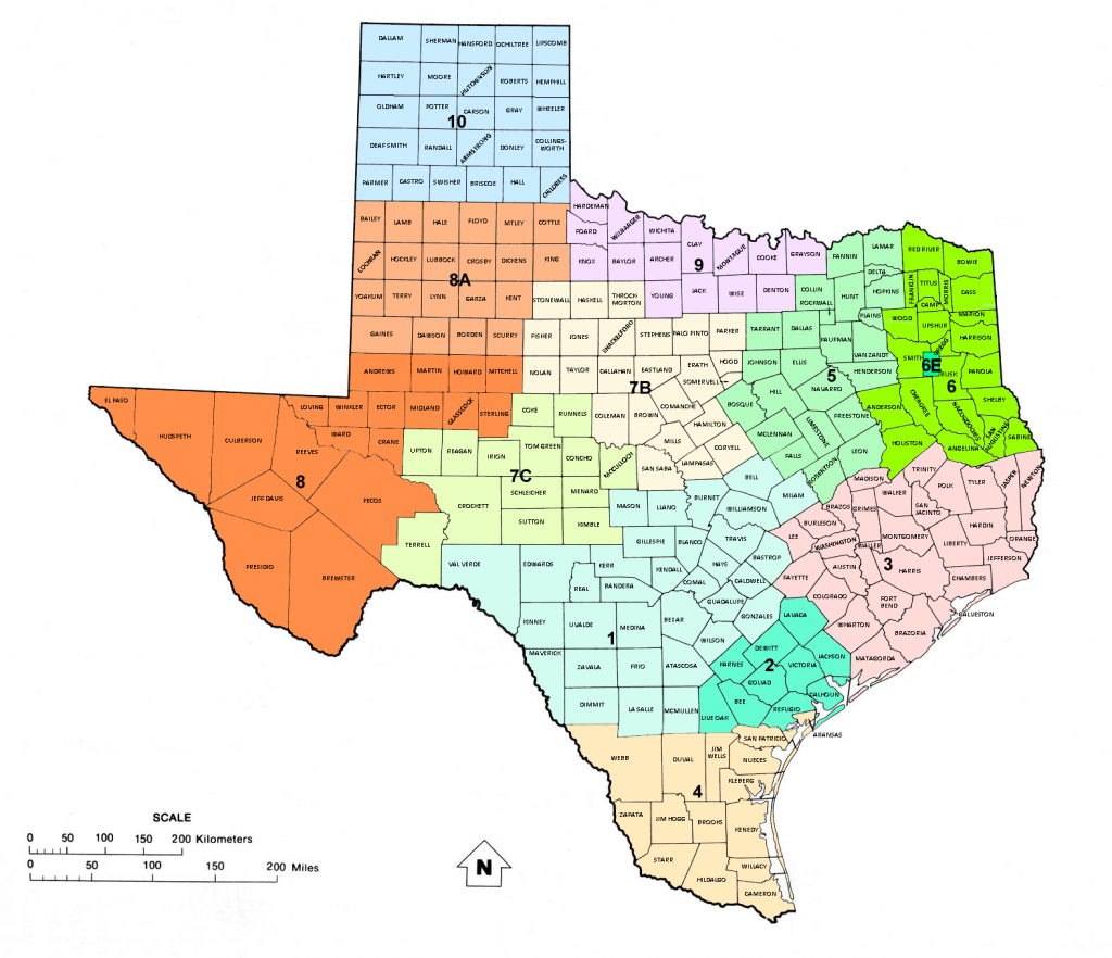 Texas Railroad Commission Districts, And Oil And Gas Map Of Texas | - Texas District Map