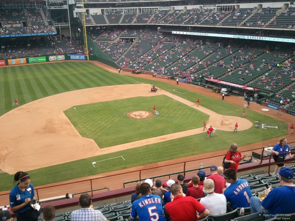 Texas Rangers Globe Life Park Seating Chart & Interactive Map - Texas Rangers Stadium Map