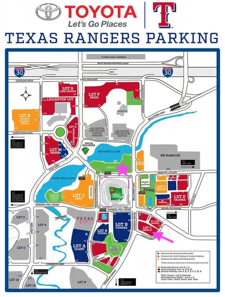 Texas Rangers Parking Map | Business Ideas 2013 - Texas Rangers Map