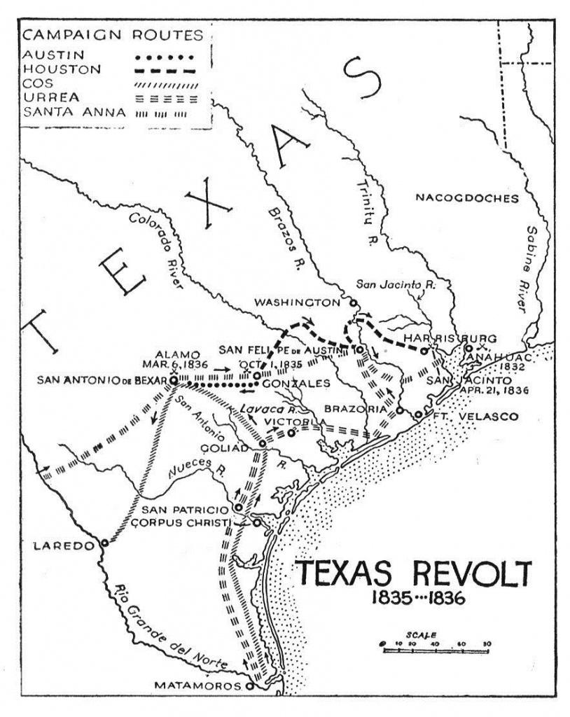 Texas Revolution - Wikipedia - Midnight Texas Map