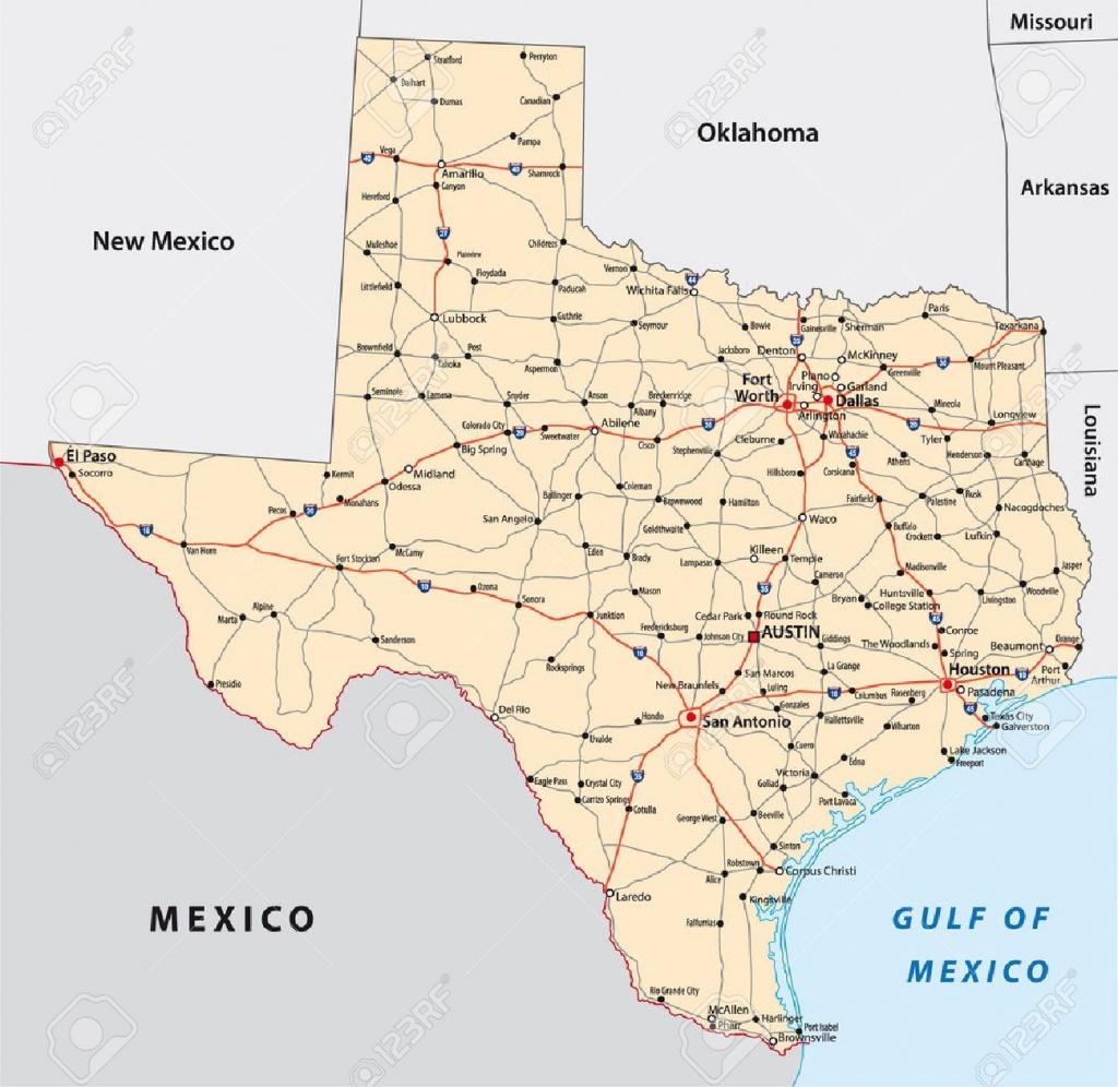 Texas Road Map Royalty Free Cliparts, Vectors, And Stock - Big Spring Texas Map