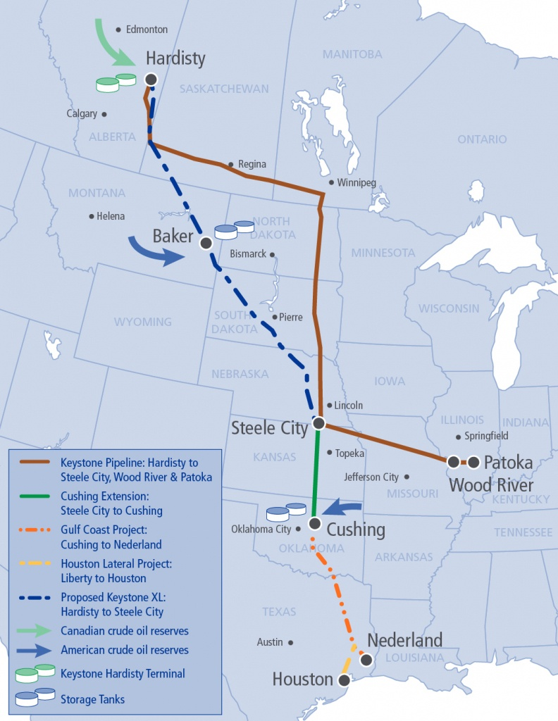 Texas Segment Of Keystone Xl Pipeline Starts Flowing - The Texas - Keystone Pipeline Map Texas