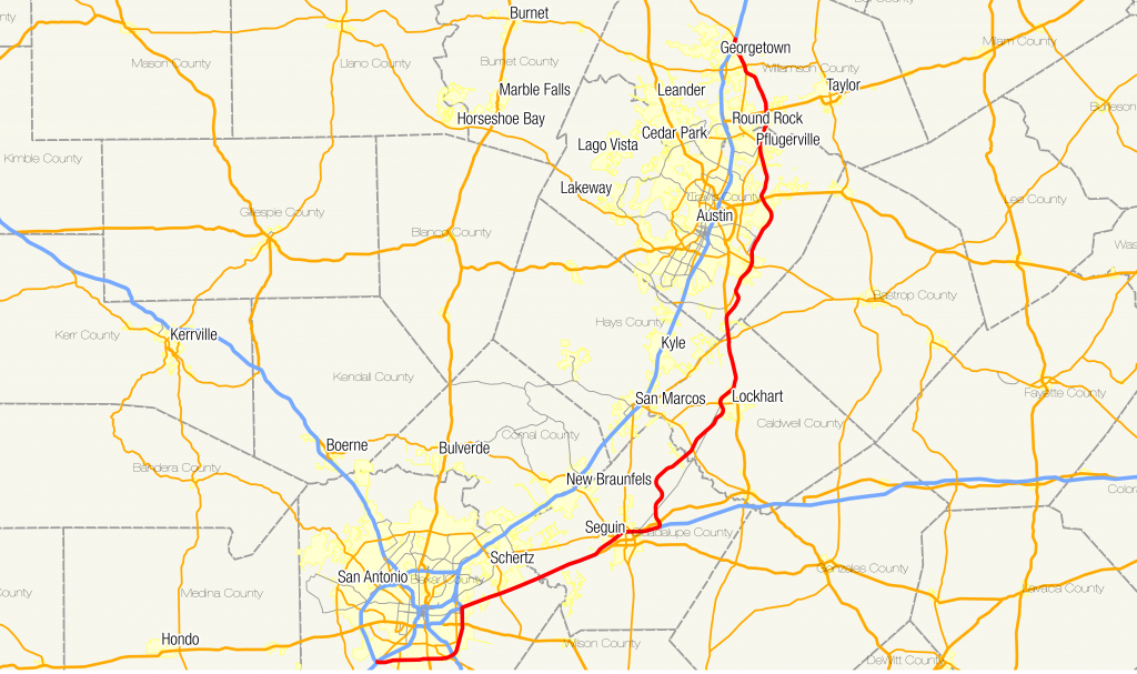 Texas State Highway 130 - Wikipedia - Georgetown Texas Map