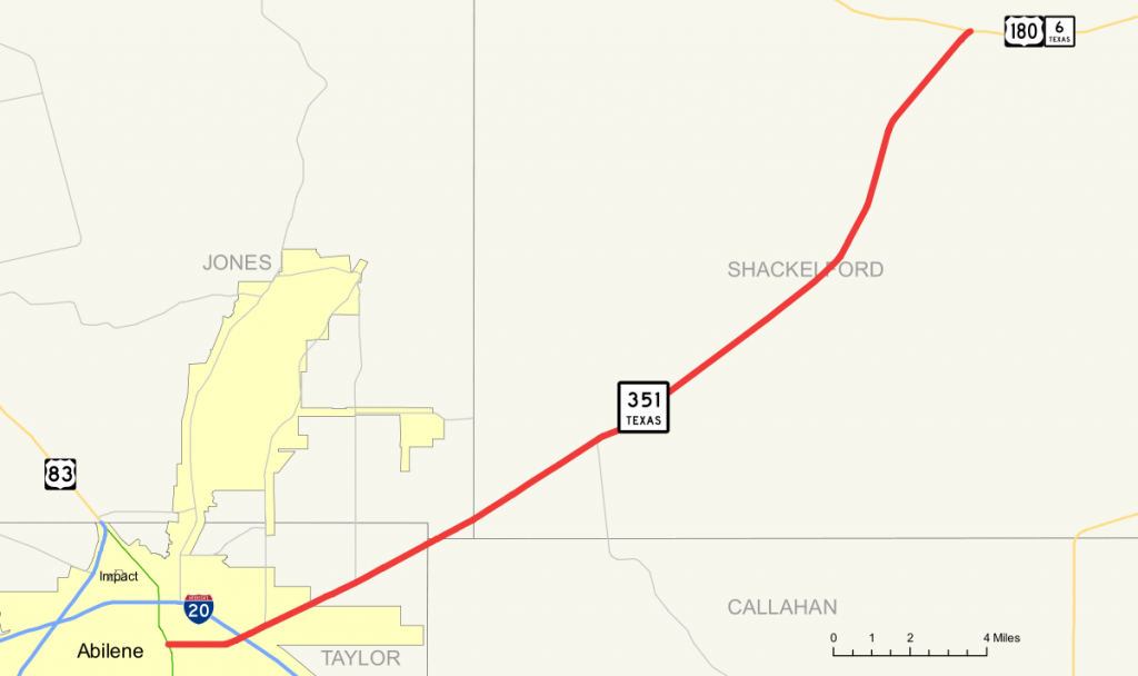 Texas State Highway 351 - Wikipedia - Texas Mile Marker Map I 20