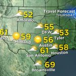 Texas Thanksgiving Travel Forecast – Cbs Dallas / Fort Worth   Texas Forecast Map