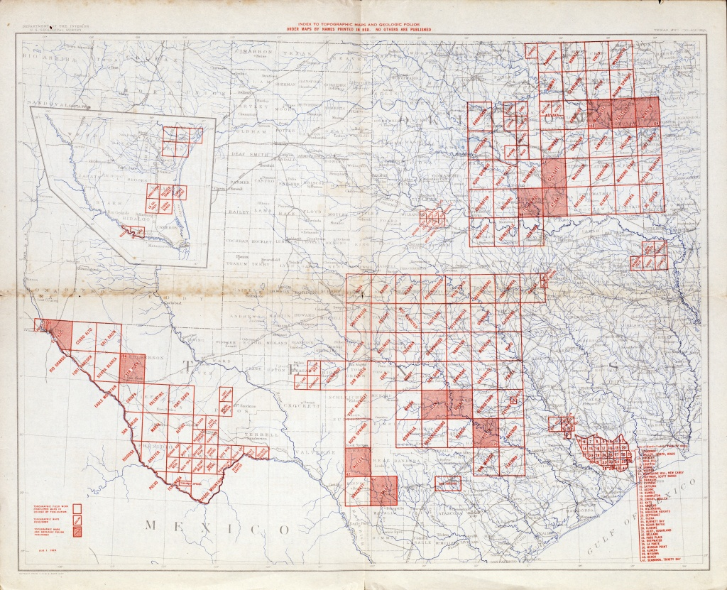 Texas Topographic Maps - Perry-Castañeda Map Collection - Ut Library - Free Old Maps Of Texas