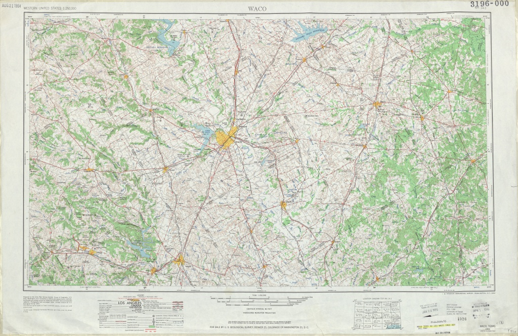 Texas Topographic Maps - Perry-Castañeda Map Collection - Ut Library - Printable Map Of Waco Texas