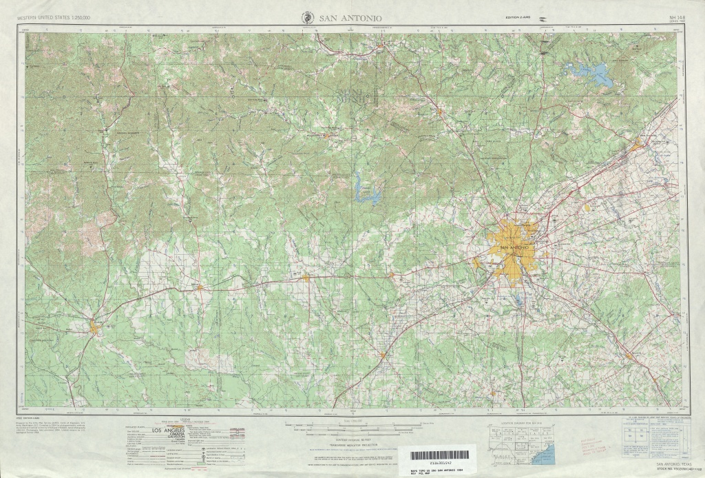 Texas Topographic Maps - Perry-Castañeda Map Collection - Ut Library - Sealy Texas Map