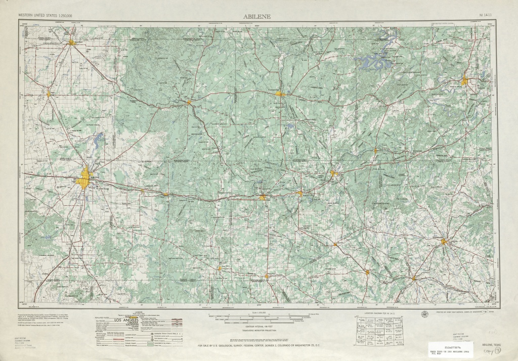 Texas Topographic Maps - Perry-Castañeda Map Collection - Ut Library - Snyder Texas Map