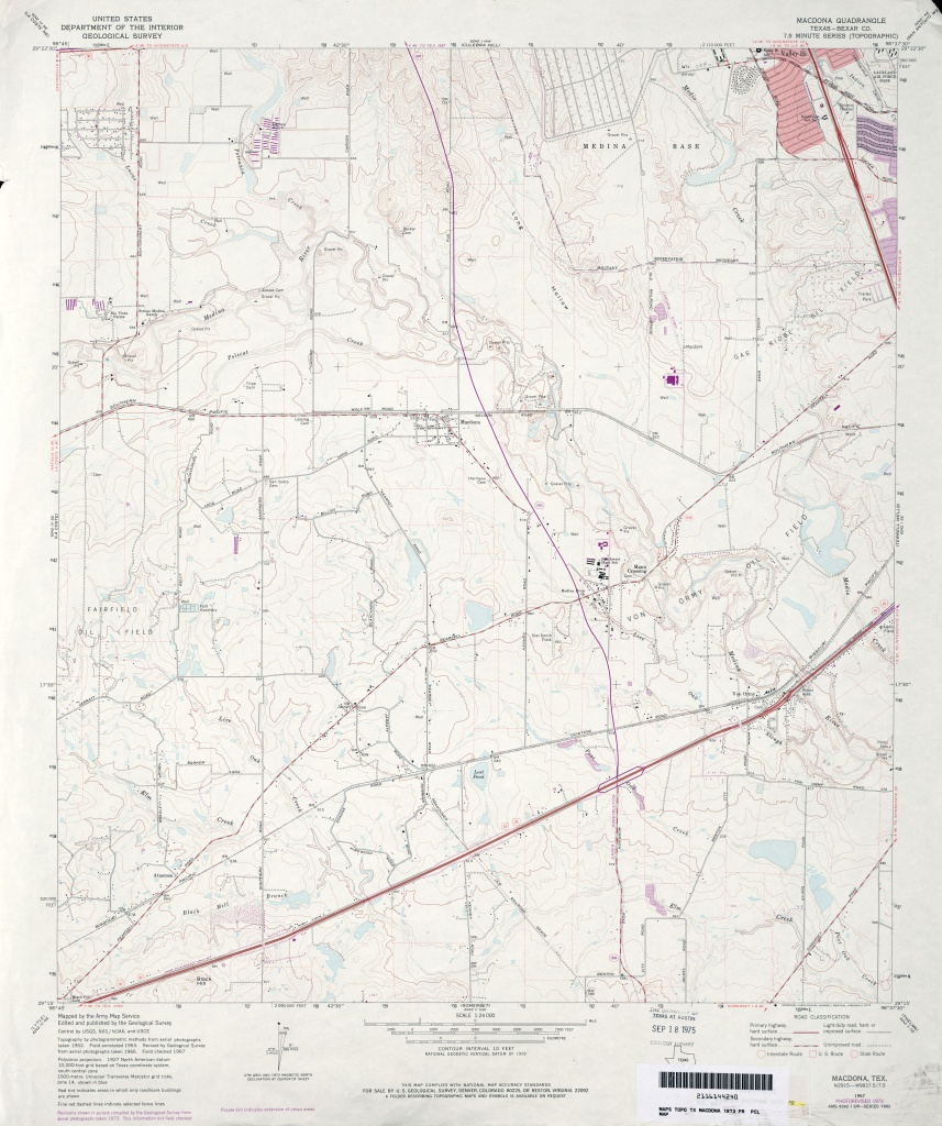 Texas Topographic Maps - Perry-Castañeda Map Collection - Ut Library - Terrell Texas Map