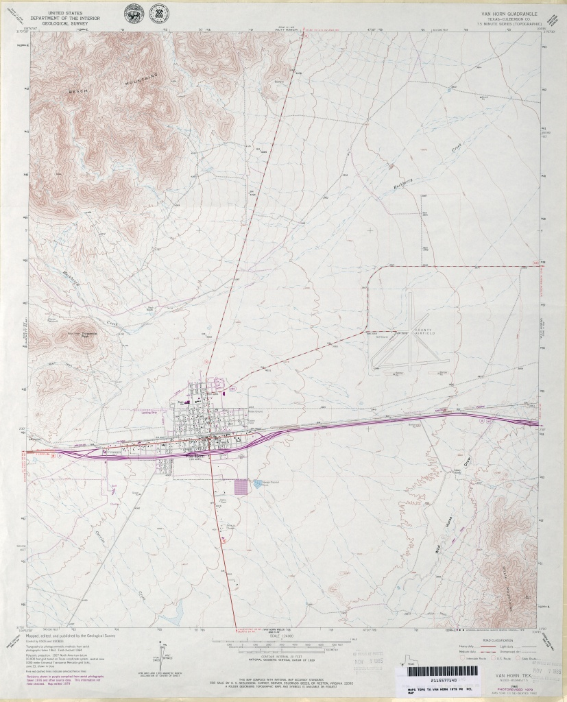 Texas Topographic Maps - Perry-Castañeda Map Collection - Ut Library - Van Horn Texas Map