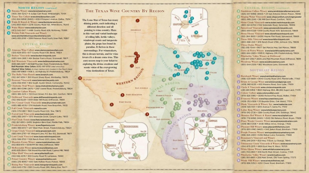 Texas Wine Country Map -Texas Has Eight Officially Recognized - Fredericksburg Texas Winery Map