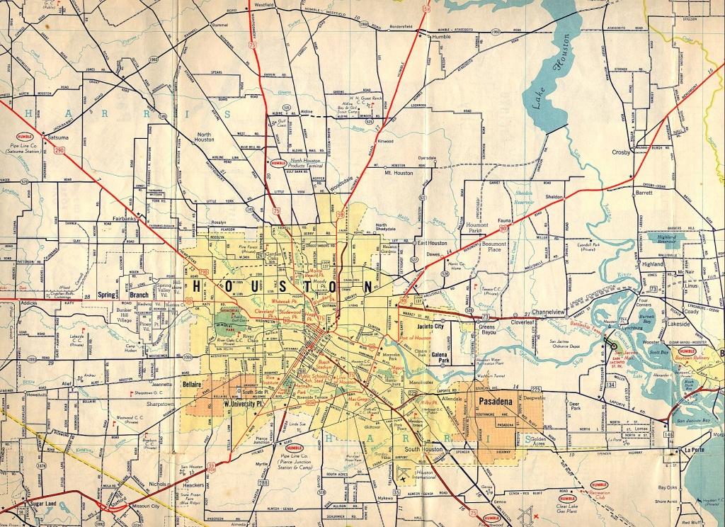 Texasfreeway > Houston > Historical Information > Old Road Maps - Show Map Of Houston Texas