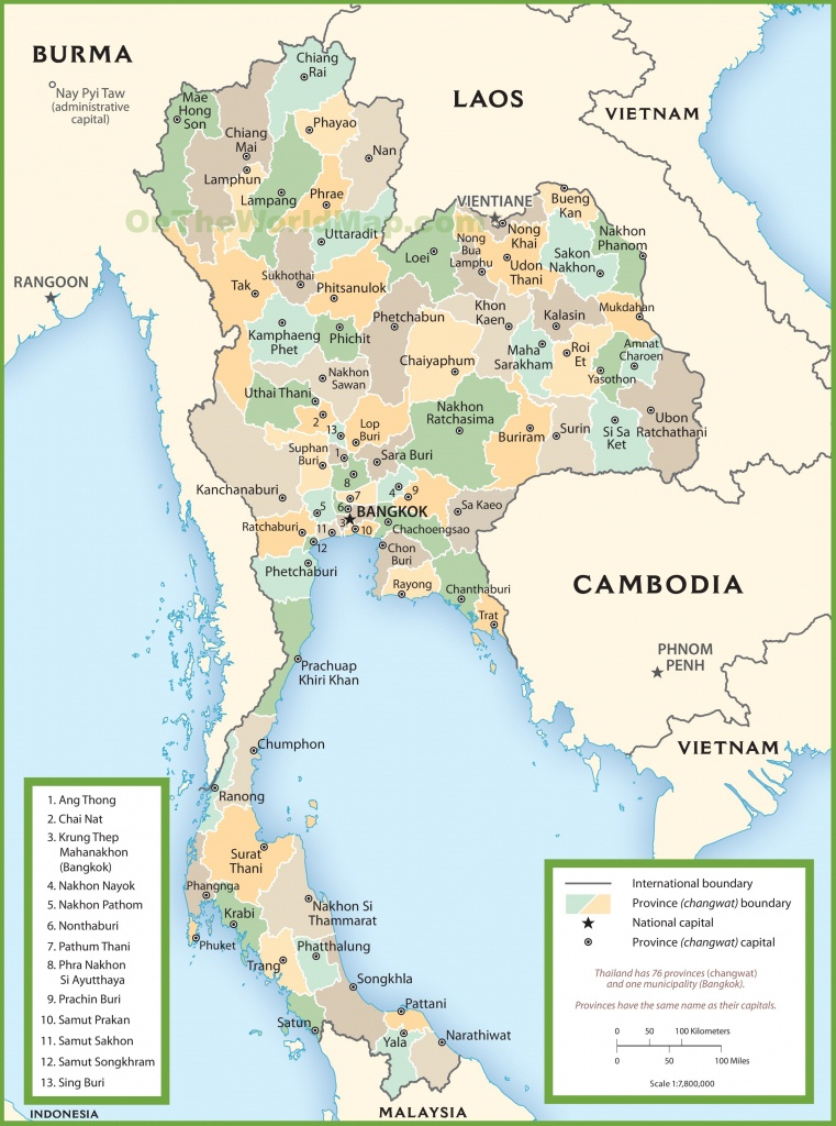 Thailand Maps | Maps Of Thailand - Printable Map Of Thailand