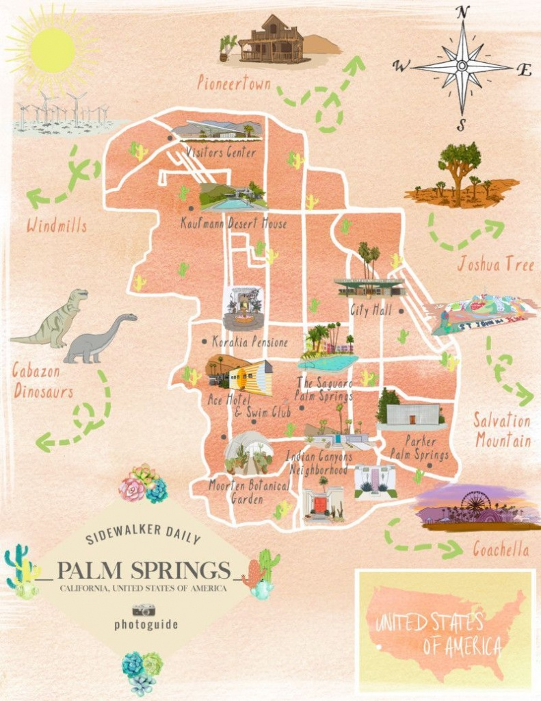The 37 Best Places To Take Pictures In Palm Springs   Palm Springs - Map Of Palm Springs California And Surrounding Area