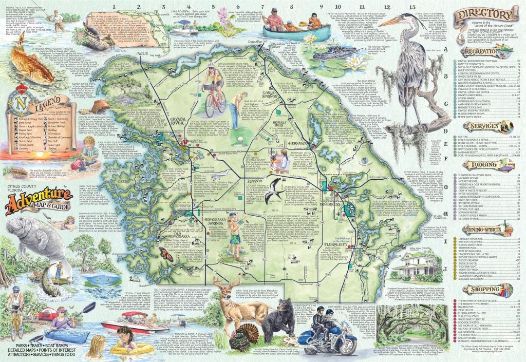The Adventure Map & Guide Of Citrus Co Fl - Citrus Hills Florida Map