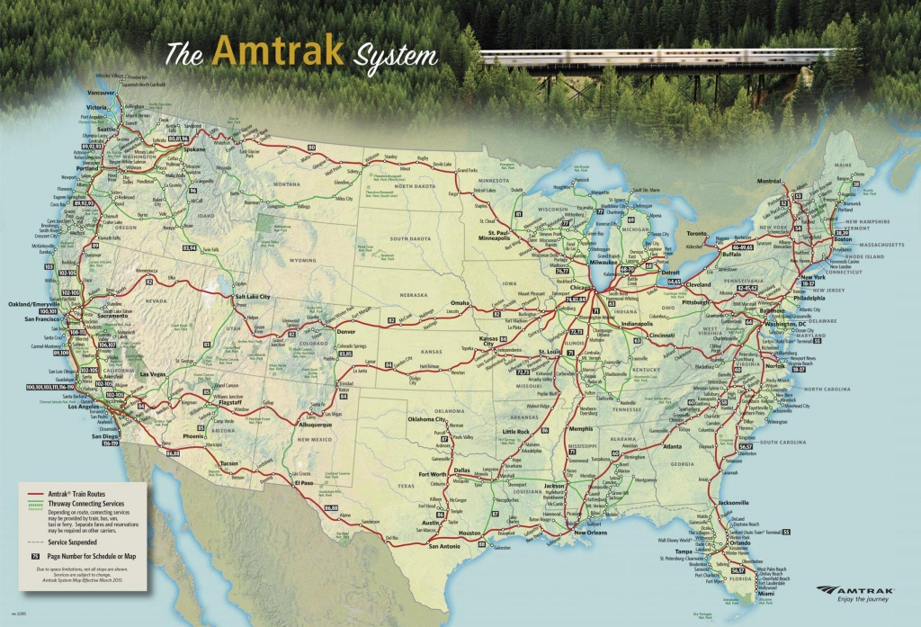 The Amtrak National Route Map [2396X1631] : Mapporn - Map Of Amtrak Stations In Texas