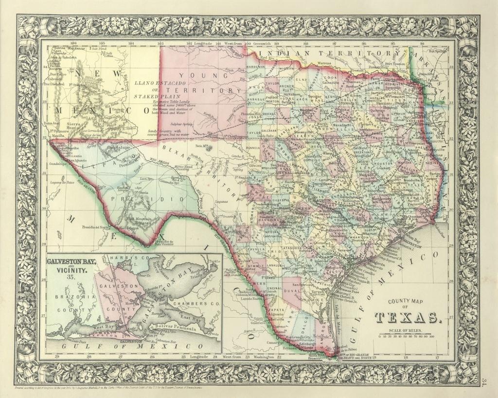 The Antiquarium - Antique Print & Map Gallery - Texas Maps - Texas Maps For Sale