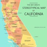 The Bay Area's Stereotypical Map Of California | Mapping Stereotypes   California Lead Free Zone Map