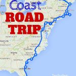 The Best Ever East Coast Road Trip Itinerary   Road Trip Ideas   Map Of Florida East Coast Beach Towns