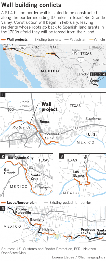 The Border Wall Will Divide This Texas Town, Displacing Or Blocking - Midnight Texas Map