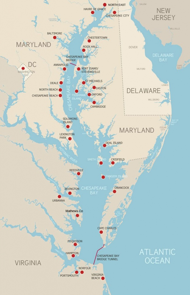 The Chesapeake Bay Explore The Chesapeake! Here's A Map To Help You - Printable Map Of Chesapeake Bay