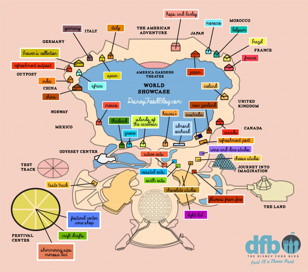 The Disney Food Blog 2018 Epcot Food And Wine Festival Map! | The - Printable Epcot Map