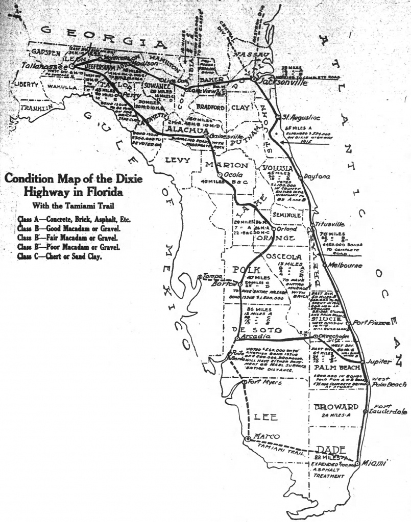 The Dixie Highway Comes To Florida | The Florida Memory Blog - Old Florida Road Maps