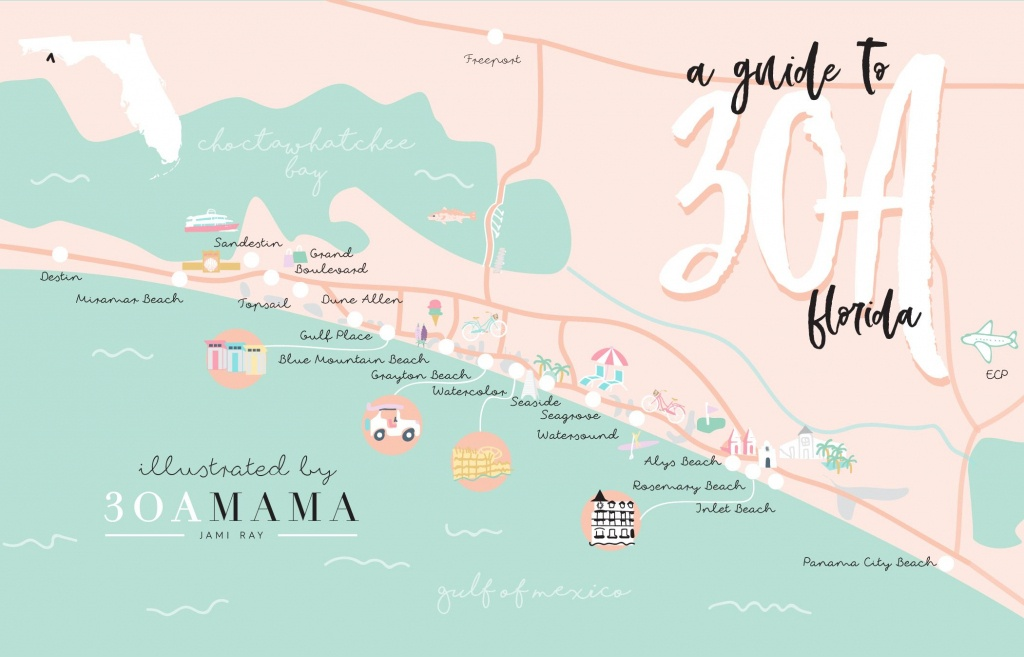 The Essential Guide To 30A – From A Local Mom | Travel | Destin - Seaside Beach Florida Map