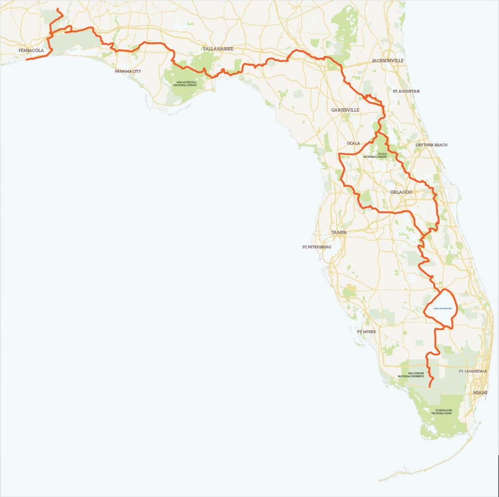 The Florida Trailregion | Florida Trail Association - Florida Hikes Map