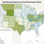 The Geography Of Coal In The U.s.   National Geographic Society   Power Plants In Texas Map